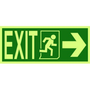 4200 - Exit, running man symbol, arrow right