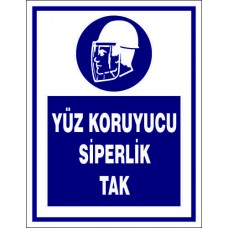 9002 SİPERLİK TAK - Wear face shield
