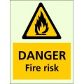 9104 DİKKAT YANGIN RİSKİ - Danger Fire risk